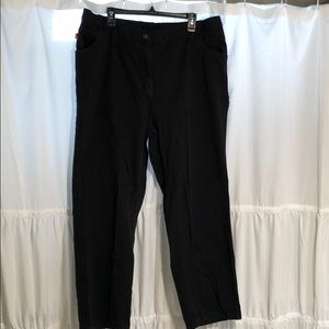 Woman Within Black straight leg Jeans size 22w